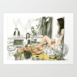 Figure Drawing, 99 Art Print