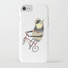 Deer on Bike.  iPhone Case