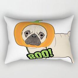 Halloween pumpkin pug Rectangular Pillow
