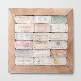 Wine Cork Trivet Metal Print