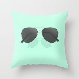 Aviator sunglasses Throw Pillow