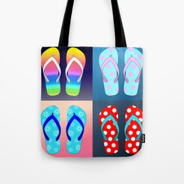 Flip Flop Pop Art Tote Bag