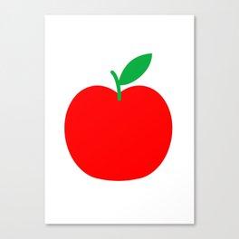 Apple Bright Scandinavian Canvas Print