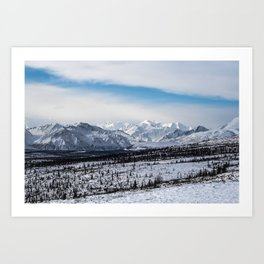Chugach Mountains, Alaska Art Print