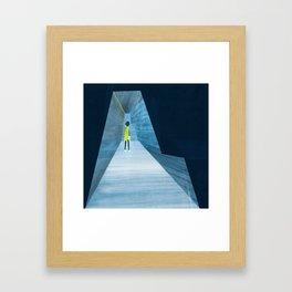 Inside the silver string piano Framed Art Print
