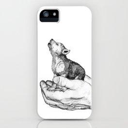 Wolf Cub // Graphite iPhone Case