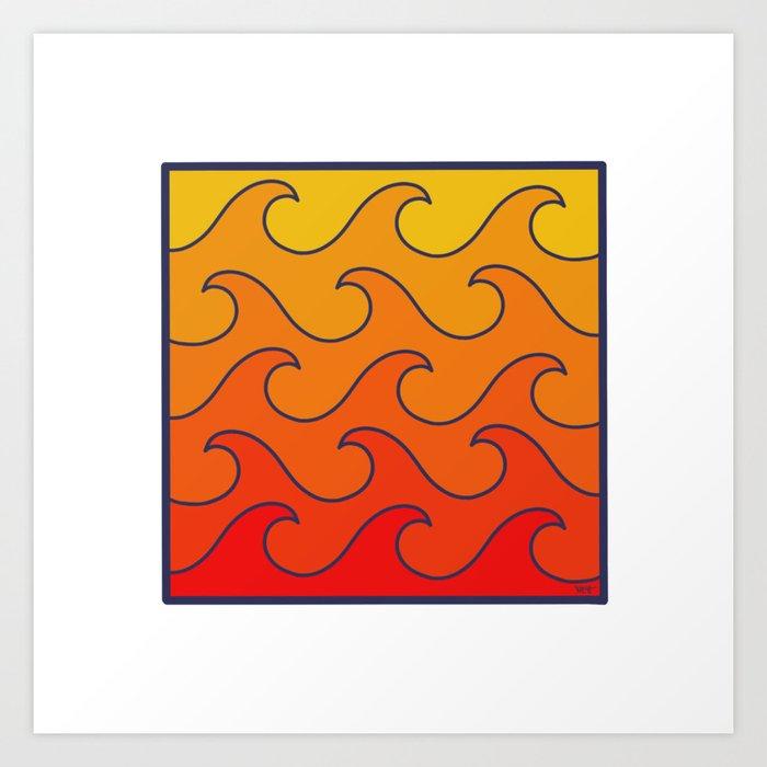 Fire In A Box Art Print