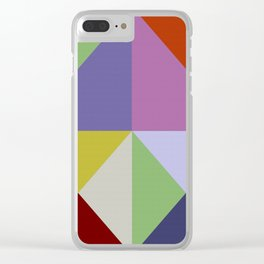 Abstract #270 Clear iPhone Case