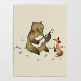 Bear & Fox Poster
