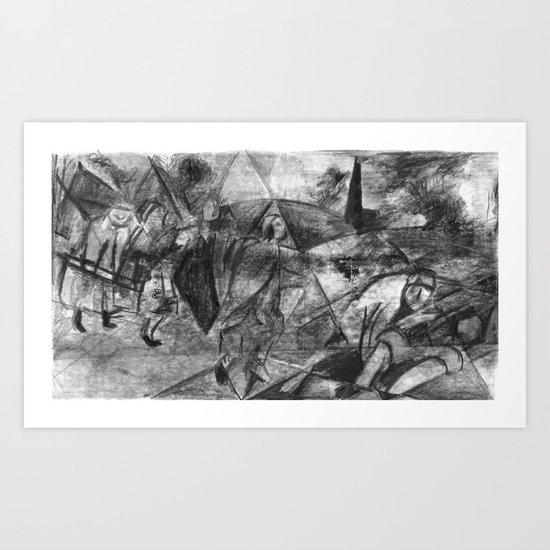 Tribute to Breughel Art Print