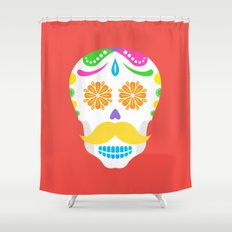 Mouscacho Skull 2 Shower Curtain