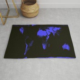WoRLD MAP black & violet Rug