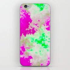 Pink Green and yellow clouds iPhone & iPod Skin