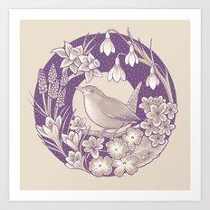 Spring Wren // Light Art Print