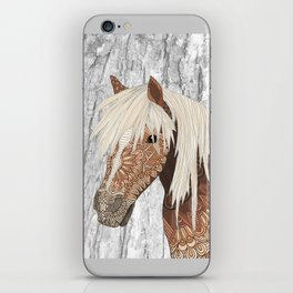 Haflinger Horse iPhone Skin