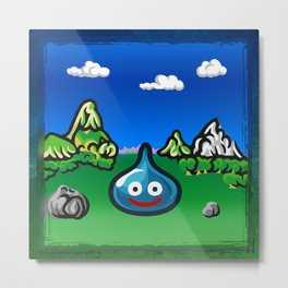 A Slime Draws Near! Metal Print