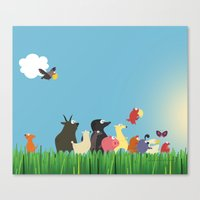 What's going on the farm? Kids collection Canvas Print
