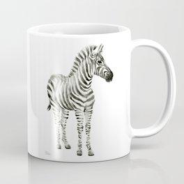 Zebra Watercolor Baby Animals Coffee Mug