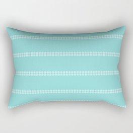 Aqua Sea Floral Stripe Rectangular Pillow