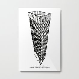Seagram Building Metal Print