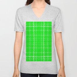 jagged, green Unisex V-Neck
