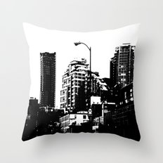 99 North in Black and White Throw Pillow