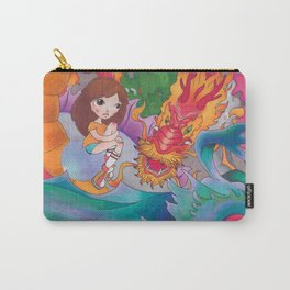 Girl and Dragons Carry-All Pouch