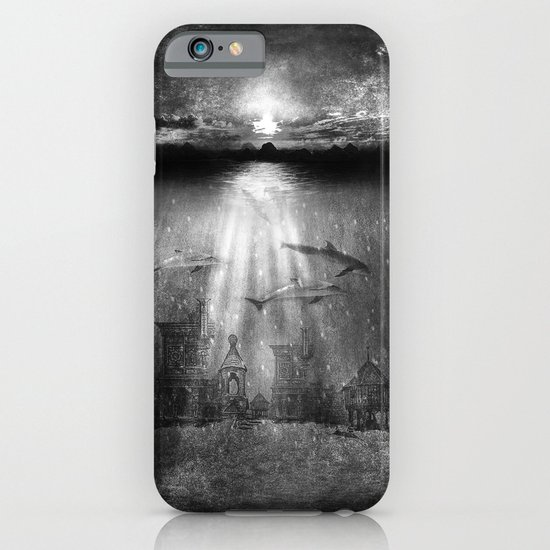 dolphins, civilization. iPhone & iPod Case