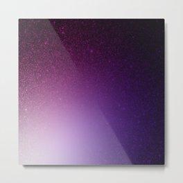 Eggplant Purple Indigo Ombre Metal Print