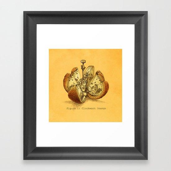 Steampunk Orange  (color option) Framed Art Print