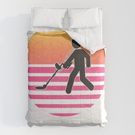 Dirt Fishing Metal Detecting Gift design Comforters