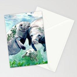 """Manatee Love"" Stationery Cards"