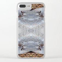Ice Jewels and Pine Needles - Debra Cortese photo art Clear iPhone Case