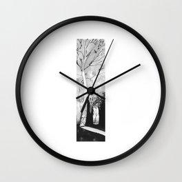 Abstract Autumn Drawing Wall Clock