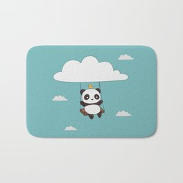 Kawaii Cute Panda In The Sky Bath Mat