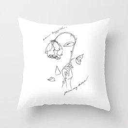 Growing Rose Throw Pillow