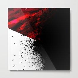 blacknwhitenredallover Metal Print