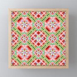 Groovy Folkloric Snowflakes Framed Mini Art Print