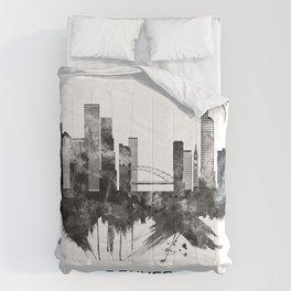 Denver Colorado Skyline BW Comforters