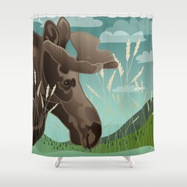 Shiras Moose Shower Curtain