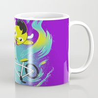 Monster Pixie Riding a Fixie Mug