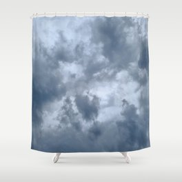 Fifty Shades of Grey Clouds | Nature Photography Shower Curtain
