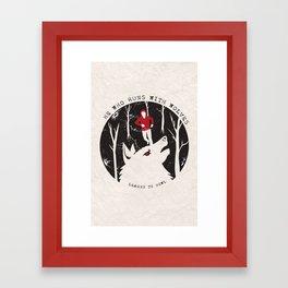 Sterek: He Who Runs With Wolves Framed Art Print