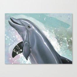 Bottlenose Dolphin In Joy Canvas Print