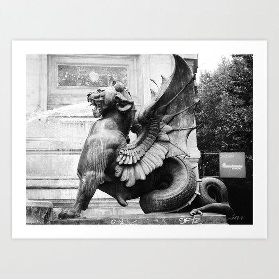 stone creature Art Print