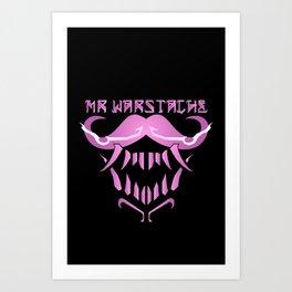 Mr. WarStache M.0 (Pink) Art Print