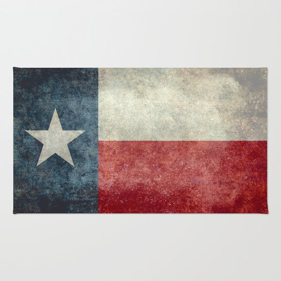Texas State Flag Vintage Banner Rug By North America