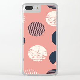 Abstract Circles In Pink Clear iPhone Case