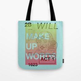 Make Up Words Tote Bag