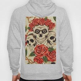 Skull wreath of roses Hoody